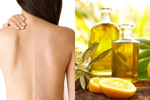 Dầu oliu giúp trị thâm mụn lưng lâu năm công hiệu cao