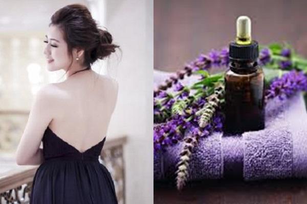 Da trắng gợi cảm hơn khi dùng dầu oải hương trị thâm mụn lâu năm ở lưng