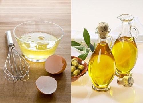 Trứng gà và dầu oliu giúp chữa quầng thâm mắt hiệu quả lâu dài