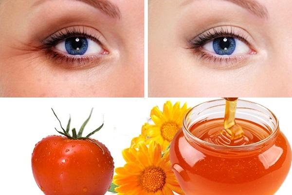 Cách điều trị thâm quầng mắt hiệu quả với mật ong và cà chua