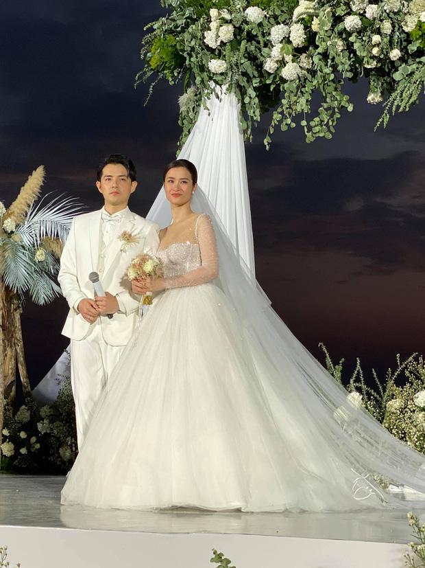 Đông Nhi diện 'sương sương' 10 mẫu váy cưới trong đám cưới thế kỷ với Ông Cao Thắng - Ảnh 14