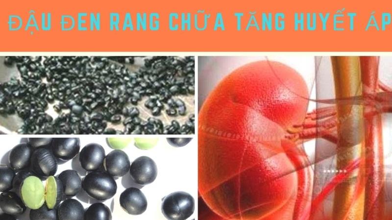 Uống nước đậu đen chữa bệnh tăn huyết áp.