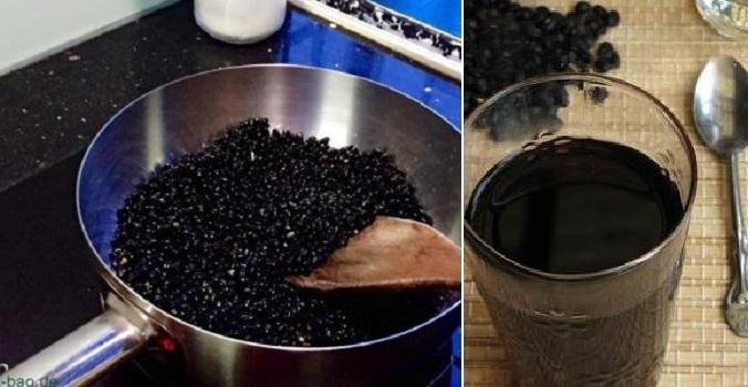 Uống nước đỗ đen rang chữa được nhiều loại bệnh.