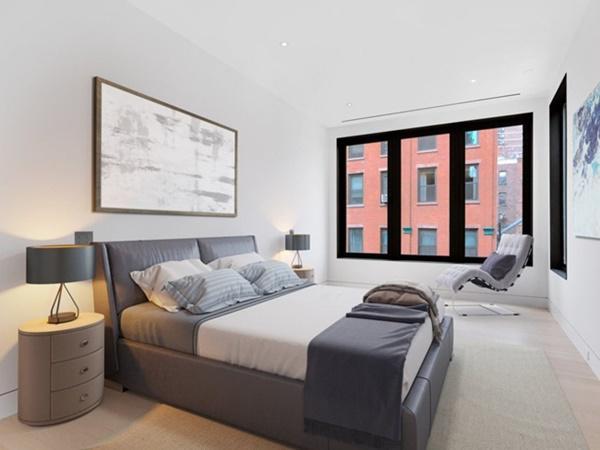 Ngôi nhà nằm trong khu Seaport ở New York, mọi thứ đều sạch sẽ.