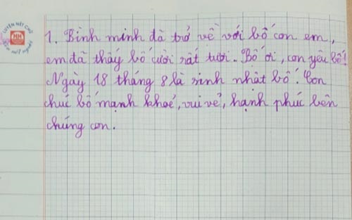 Bài văn tả mẹ nhưng lại ra bố của bé lớp 5 khiến ai cũng nghẹn ngào - Ảnh 4
