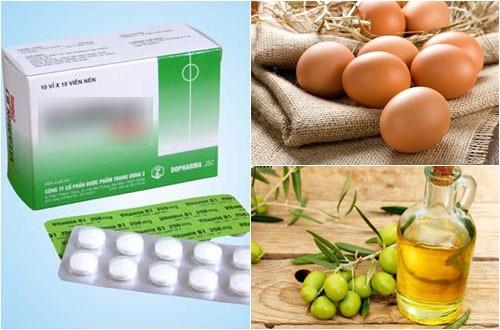Hỗn hợp kem ủ từ vitamin B1