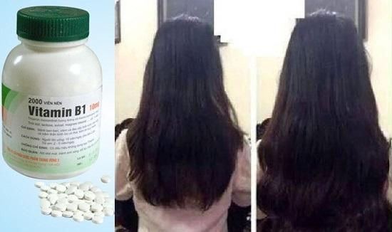 Vitamin B1 trị rụng tóc, giúp tóc nhanh dày và dài hơn.