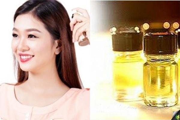 Trị rụng tóc bằng cách thoa tinh dầu vỏ bưởi lên tóc mỗi ngày