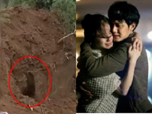 Thương nhớ vợ mất sớm chồng ra mộ thăm vợ thì sốc nặng khi thấy mộ vợ bị đào tung lên, mở nắp quan tài ra thì... - Ảnh 1