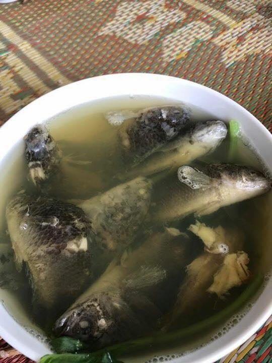 Đắng lòng bát canh cá rô nấu rau cải của cô vợ hậu đậu