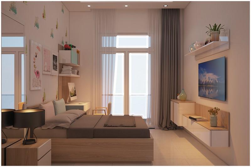 Nội thất biệt thự mini có 3 phòng ngủ xinh xắn - Ảnh 3