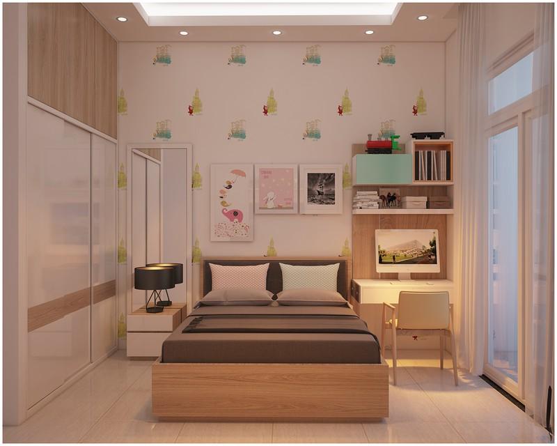 Nội thất biệt thự mini có 3 phòng ngủ xinh xắn - Ảnh 4