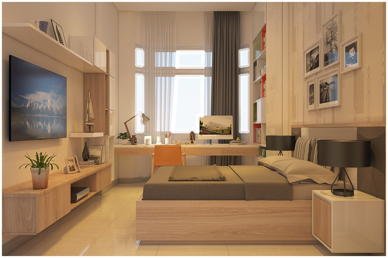 Nội thất biệt thự mini có 3 phòng ngủ xinh xắn - Ảnh 5