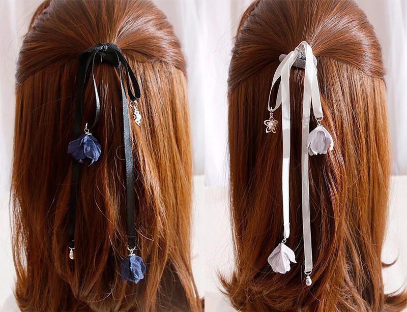 Dùng dây ruy băng cột tóc cho bạn đẹp hơn trong ngày valentine