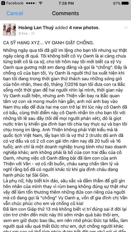 Chồng Vy Oanh thừa nhận có con riêng nhưng phủ nhận Vy Oanh là kẻ thứ 3: 'Tôi mua rất nhiều nhà cho Vân rồi, còn bé Voi là con tôi' - Ảnh 1
