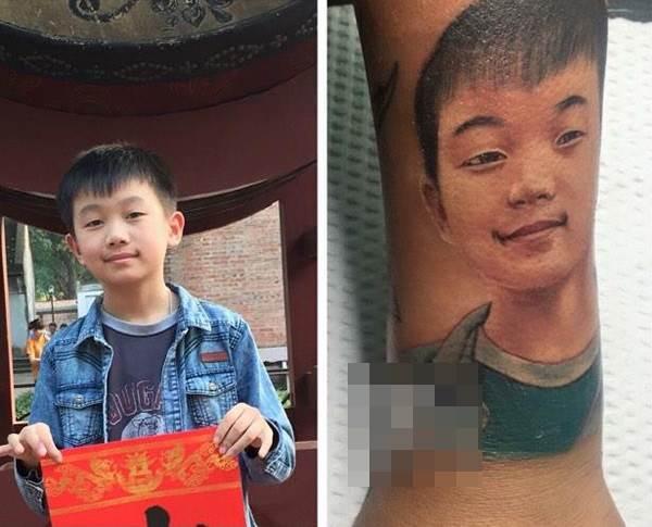 Nhớ con, mẹ trẻ 8X xăm hình con trai lên cổ tay - Ảnh 4